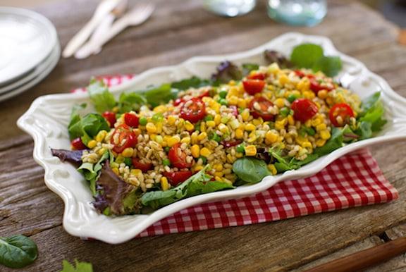 Barley and fresh corn salad