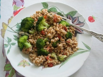 Farrotto With Sun-Dried Tomatoes, Broccoli and Basil Ellen Kanner