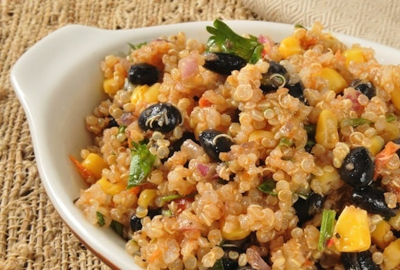 Quinoa with black beans recipe