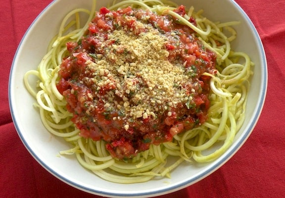 Tasty and abundant zucchini recipes vegkitchen raw zucchini noodles forumfinder Image collections