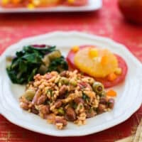 Spanish Rice and red beans recipe