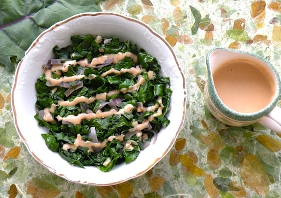 ... Kale with Tahini-Lemon Sauce might just become one of your favorite go