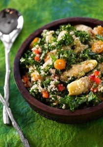 Quinoa, kale, and artichoke salad
