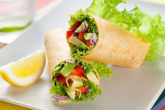 Tossed salad wraps