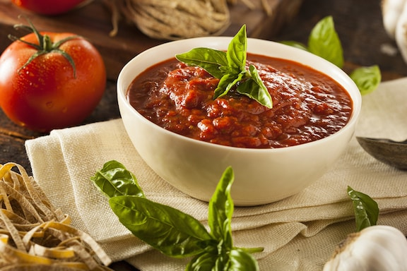 Homemade marinara sauce with fresh tomatoes