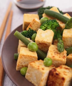 Fried Tofu with Veggies