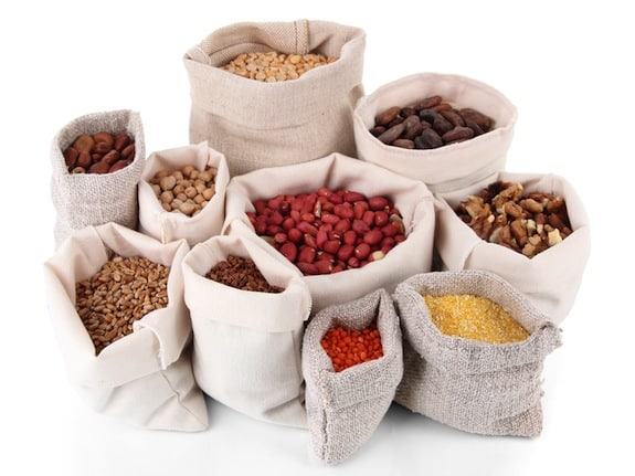 Pantry staples in bags