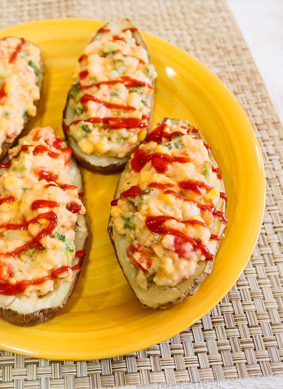 Hummus and Veggie-stuffed Potato recipe