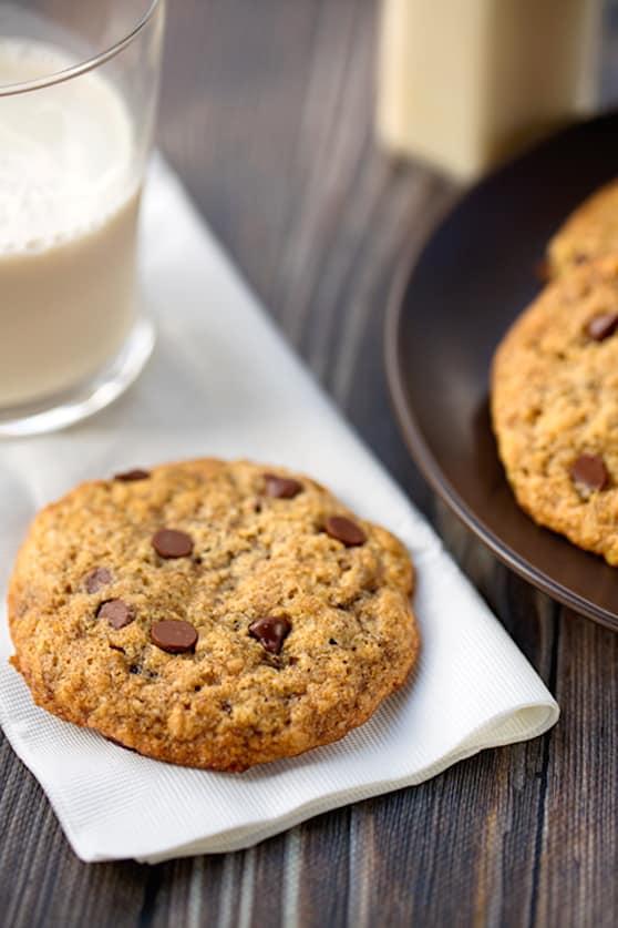 low-fat vegan chocolate chip cookies