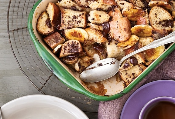 chocolate chunk banana bread pudding from Vegan Chocolate by Fran Costigan