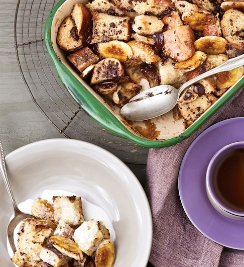 Chocolate Chunk Banana bread pudding by Fran Costigan