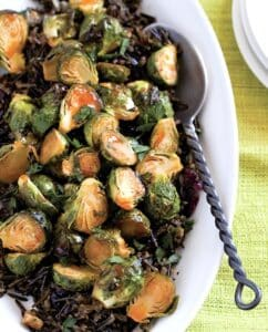 MAPLE-SRIRACHA ROASTED BRUSSELS SPROUTS randy clemens
