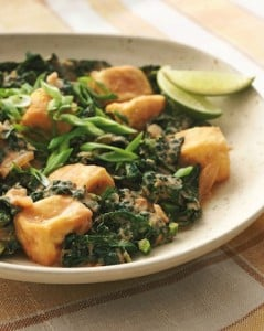 Spicy Thai Braised Kale and Tofu from Eat to Live by Joel Fuhrman