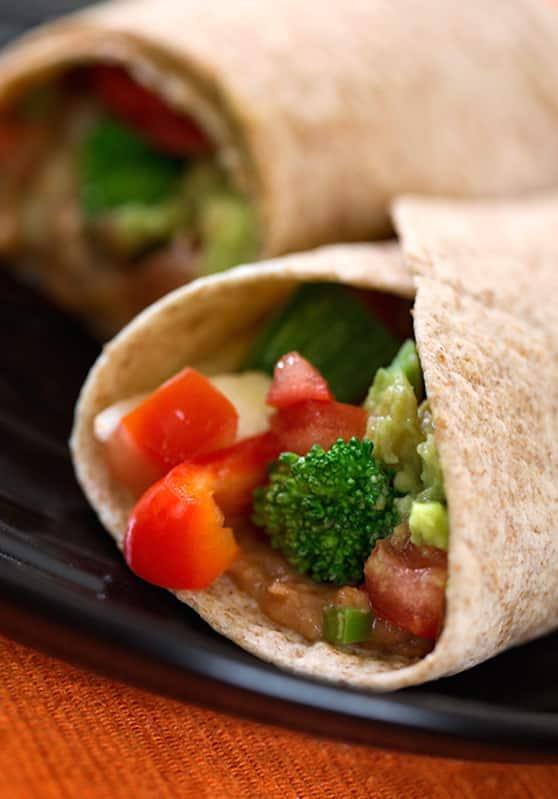 bountiful vegetable burritos recipe