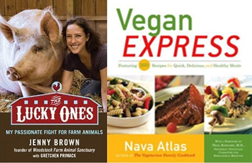 The lucky ones by Jenny Brown adn Vegan Express by Nava Atlas