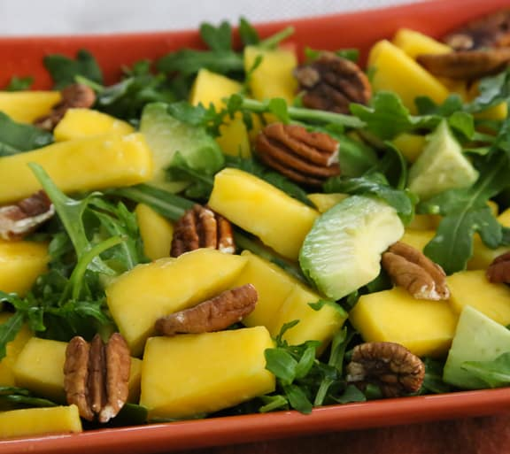 Mango, avocado, and arugula salad recipe