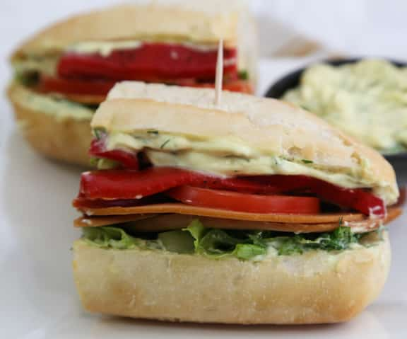 Veggie Deli Hero Sandwiches