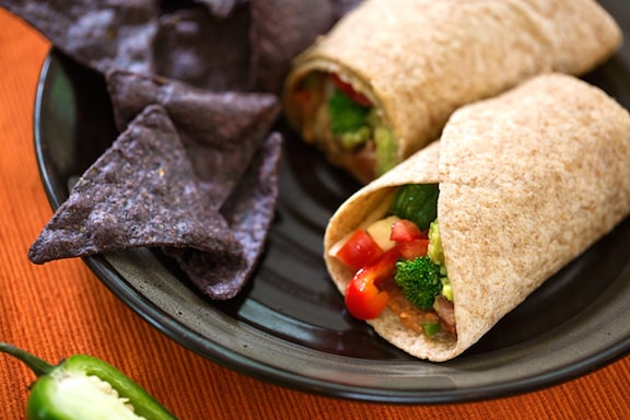 bountiful vegetable burritos