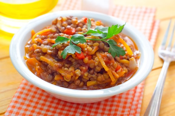 how to cook lentils in chili