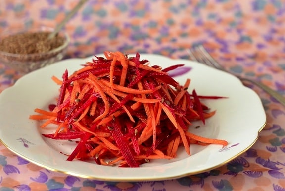 Grated Beet and Carrot salad