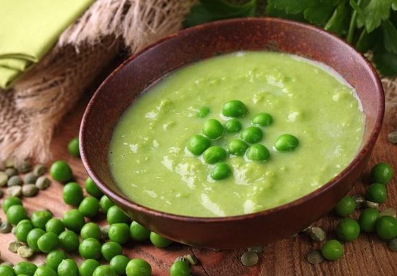 Creamy cashew green pea soup recipe