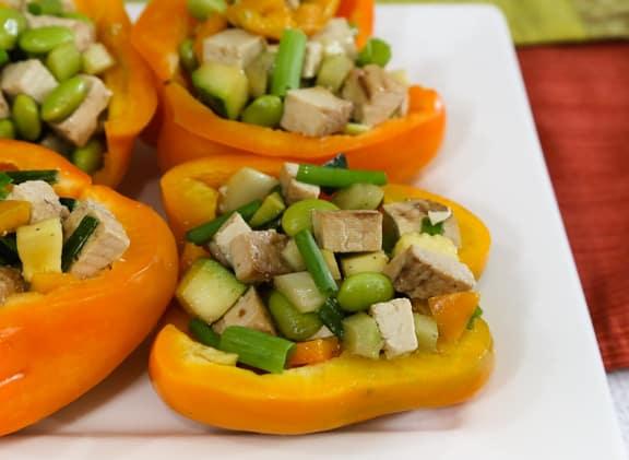 Tofu and Edamame Chopped Salad