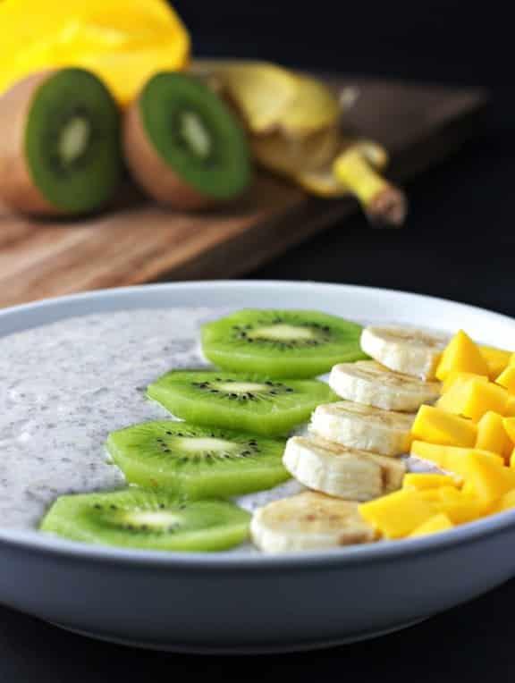 Chia seed breakfast bowl recipe