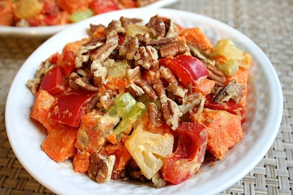 Sweet potato salad with pecans