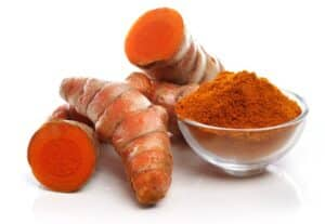 Fresh and ground turmeric