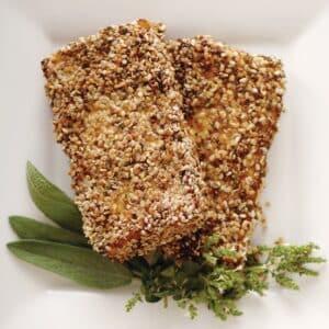 Chia-Crusted Tofu Cutlets