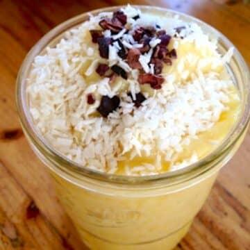 Frozen vegan pineapple crush