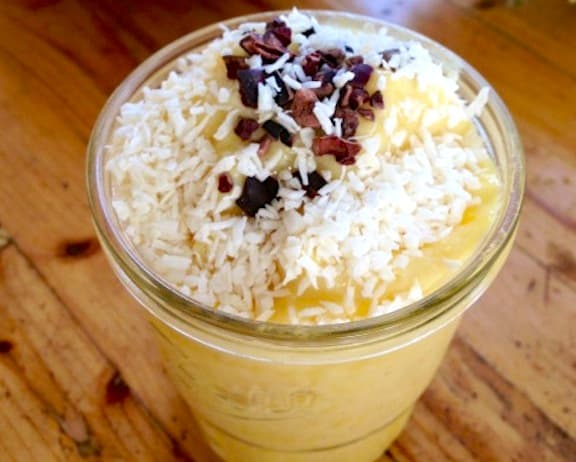 Frozen vegan pineapple crush