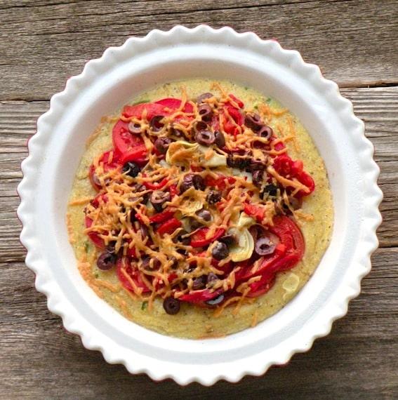 Mediterranean polenta pie recipe by Robin Robertson