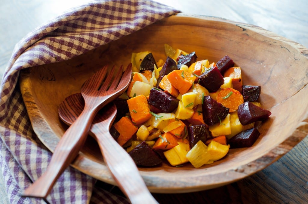 Garlicky Roasted Root Vegetables from Leslie Cerier