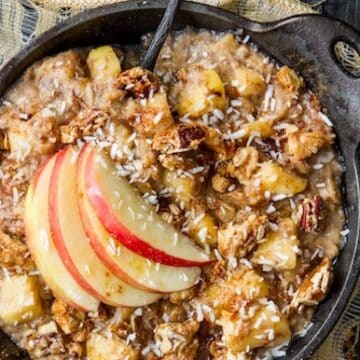 Apple pie oatmeal from the oh she glows cookbook by angela lid don