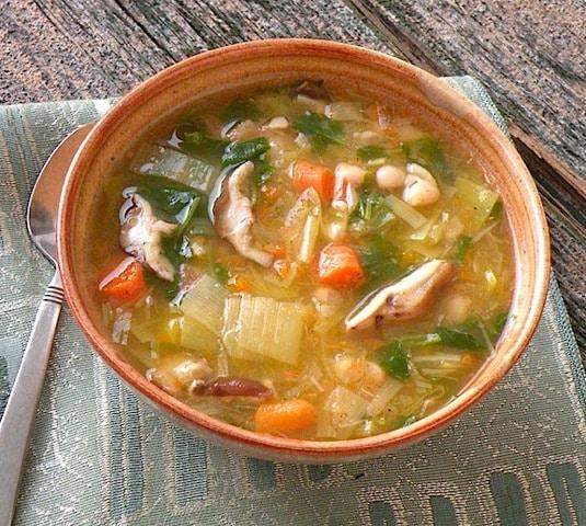 Shiitake Leek Soup from Joel Fuhrman