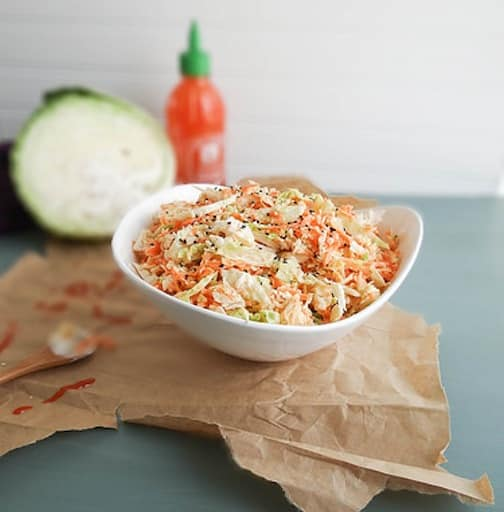 Napa sriracha slaw from Heather Poire