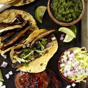 Portobello Mushroom Tacos from Forks Over Knives