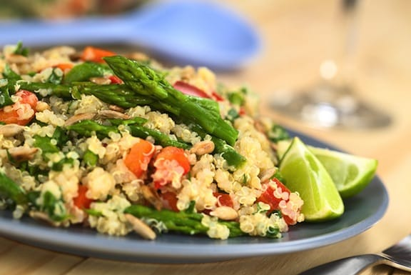 Quinoa and asparagus salad