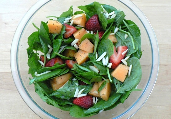 Fruity Spinach Salad from Stellar Vegan Salads by Sharon Discorfano