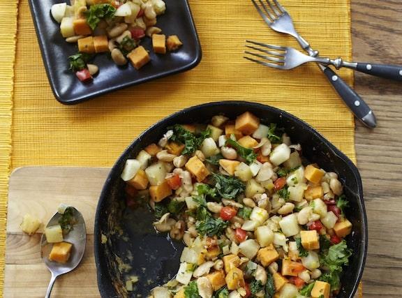 Vegetable White Bean Hash from Forks Over Knives