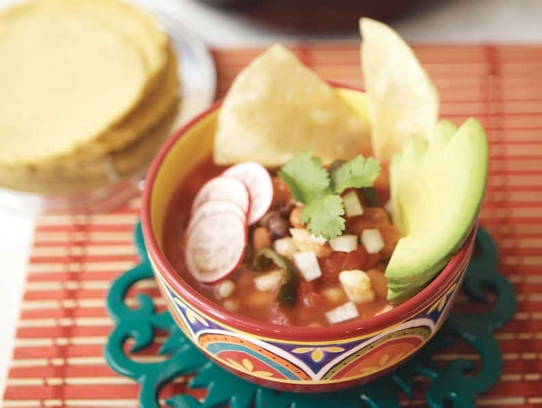 Quick Red Posole with Beans by Terry Hope Romero from Viva Vegan