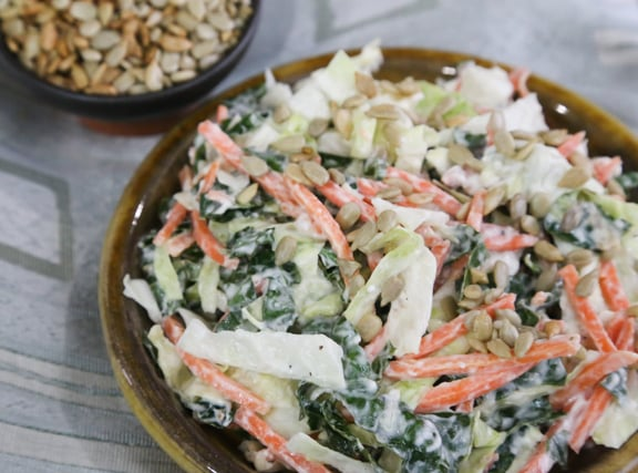 Kale and Cabbage Slaw recipe