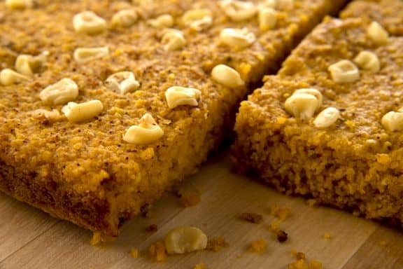 Pumpkin cornbread by Debbie Adler from Sweet Debbie's Organic Treats