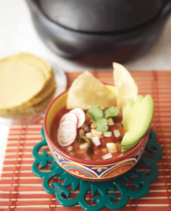 Quick red posole recipe by Terry Hope Romero