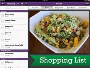Vegan delish banner shopping list