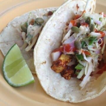 BBQ Tofu Tacos by Ashlee Piper from The Little Foxes