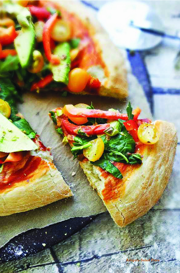 Arugula Pizza by Sharon Palmer from Plant-Powered for Life