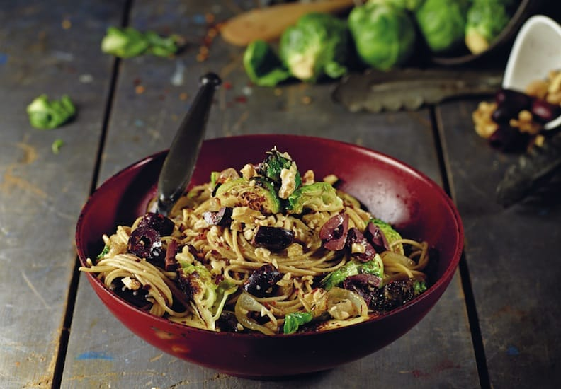 Olive Angel Hair With Brussels Sprouts