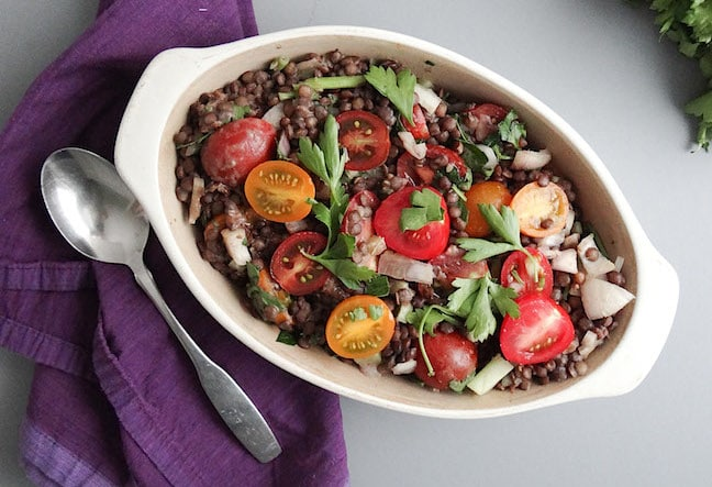 French Lentil Salad by Sharon Palmer from Plant-Powered for Life